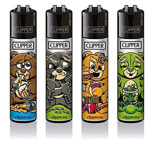 Clipper® Feuerzeuge - Bad Teddies- 4er Set
