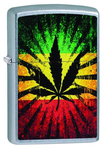Zippofeuerzeug Rastafari Leaf Design