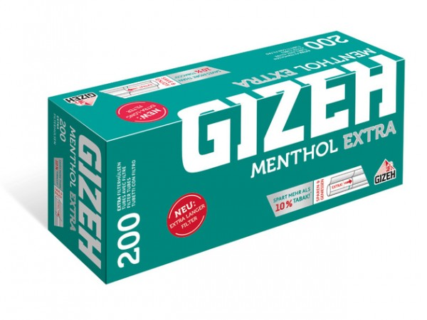 Gizeh Menthol Extra Filterhülsen 200ter
