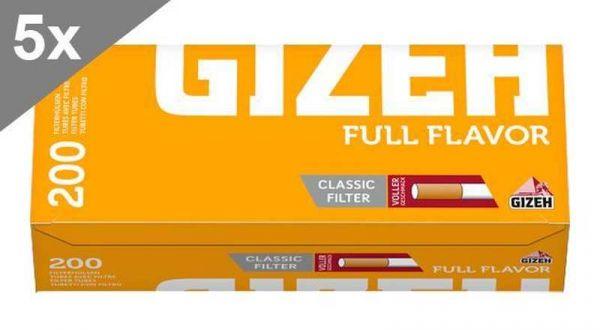 Gizeh Full Flavor, 200 Hülsen, 5er Gebinde
