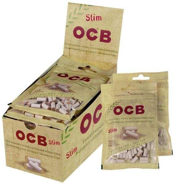 OCB Organic Slim Filter, 6 mm, 10 Beutel, 120 Stück