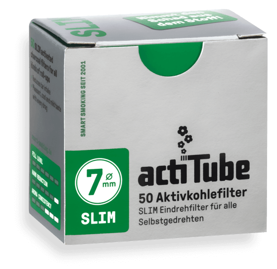 actiTube Aktivkohlefilter - actiTube Slim 50er Pack