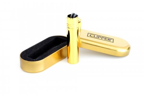 Clipper Metall Feuerzeug: Gold – Glänzend