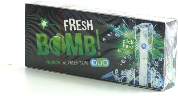 100 Fresh Bomb Menthol Click Hülsen mit Aromakapsel