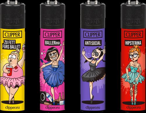 Clipper Feuerzeuge - 4er Set: Ballerinas