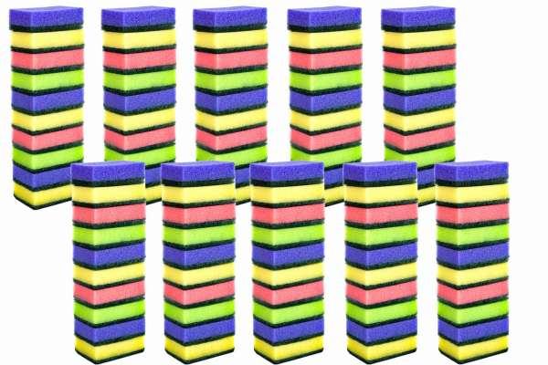 100er Pack Schwämme Topfreiniger in verschiedenen Farben
