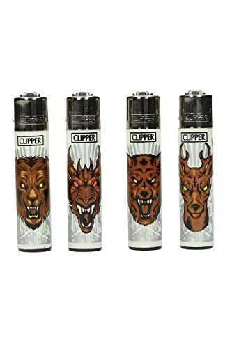 Clipper Feuerzeuge 4er Set: Iron Animals