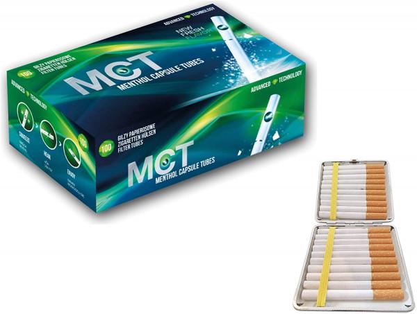 MCT Menthol Fresh Click Filterhülsen (500 Filterhülsen) inkl. gratis Etui