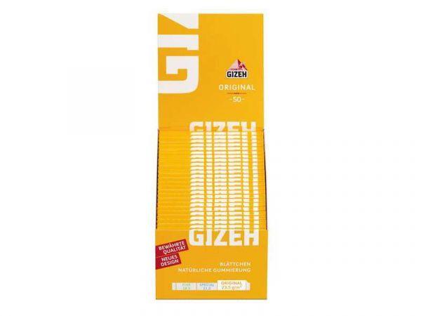 Gizeh Original (gelb) 50 Hefte je 50 Blatt