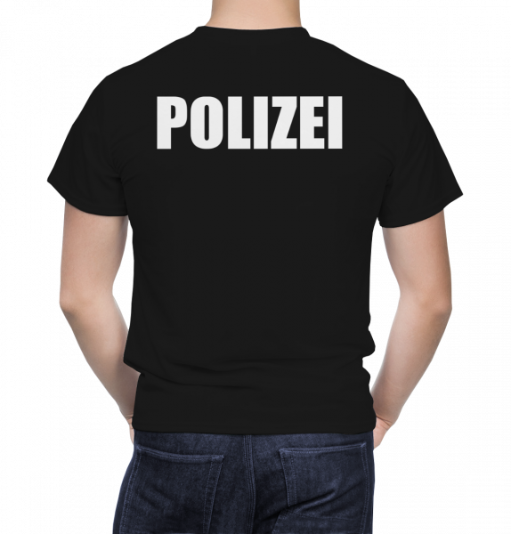 Polizei T-Shirt Herren - T Shirt für Polizei - 100% Baumwolle Premium Qualität
