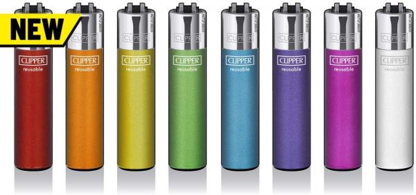 Clipper® Feuerzeuge - 8er Set (Crystal Rainbow)