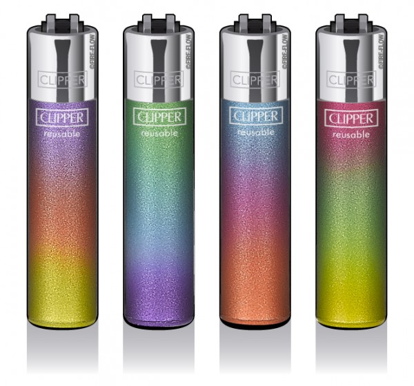 Clipper® Feuerzeuge 4er Set: Triple Gradient
