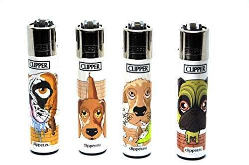 Clipper® Feuerzeuge - Hunde - 4er Set