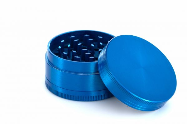 3-teiliger Premium Metall Grinder Blau