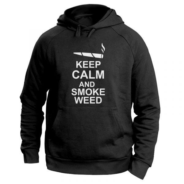 "Kiffer Hoodie mit Hanfblatt ""keep calm and smoke"""