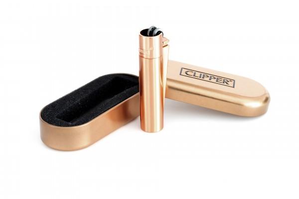 Clipper Metall Feuerzeug: Rose Gold - Matt