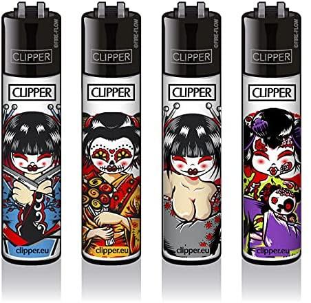 Clipper Feuerzeuge - 4er Set: Geishas #3