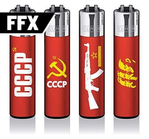 Clipper Feuerzeuge 4er Set: CCCP - FFX -Serie
