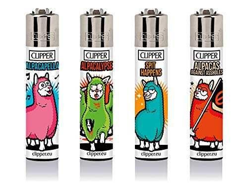 Clipper Feuerzeuge 4er Set: Alpaca