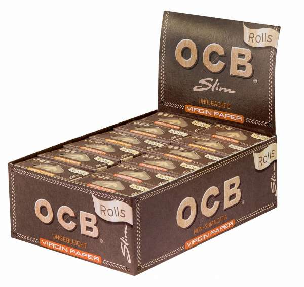 OCB 1010 Unbleached Rolls Virgin Paper - 24 Rollen