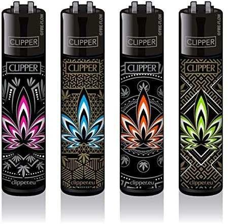 Clipper® Feuerzeuge 4er Set: Leaves #34
