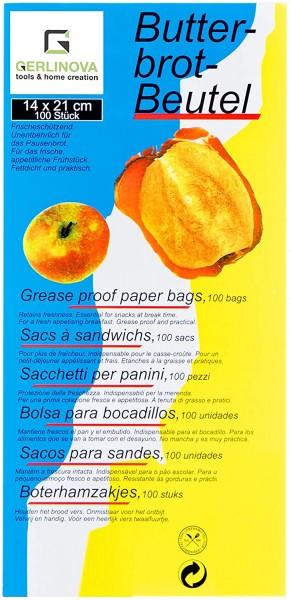 Frühstücktüten aus Papier - 200 Stk - Fettdichte Beutel für Toast, Brot, Brötchen, Obst