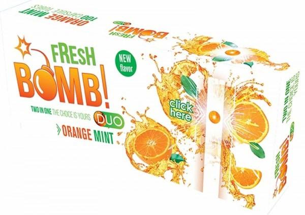 100 Fresh Bomb Orange Click Hülsen mit Aromakapsel
