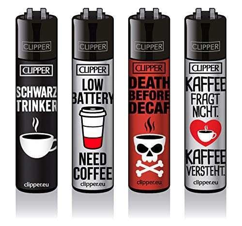 Clipper® Feuerzeuge - Kaffee - 4er Set