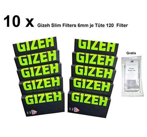10 x Gizeh Black Fine (schwarz-grün) je 100 Blatt - Format: 35,8 mm x 68 mm. / Papier: 18,5 g/qm.