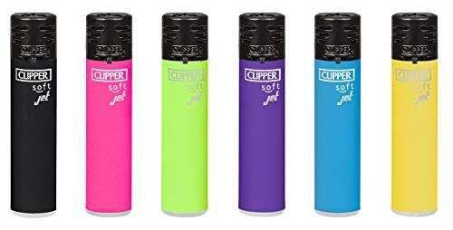 sunmondo Clipper® Feuerzeuge - Jet Flame Soft Colors #2 8er Set