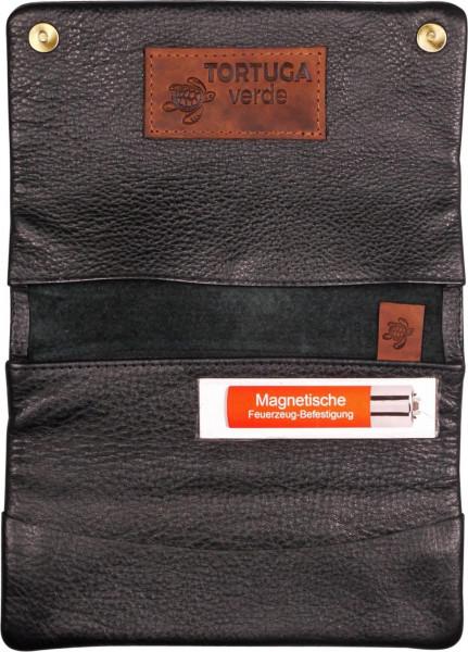 Tortuga Verde Echt Leder Tabakbeutel Bio - Umweltfreundlich ohne Plastik inkl. Geschenkverpackung