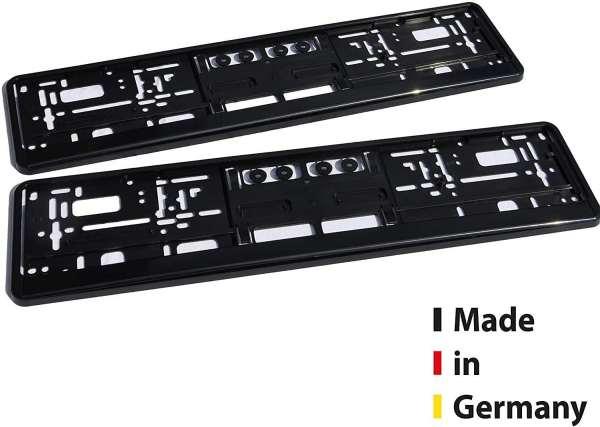Kennzeichenhalter Auto Schwarz, Nummernschildverstärker Kennzeichenrahmen 2er Set