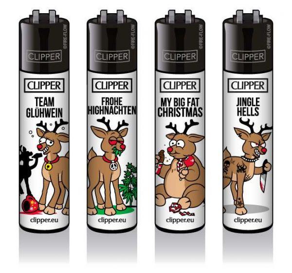 Clipper® Feuerzeuge 4er Set: Rentiere