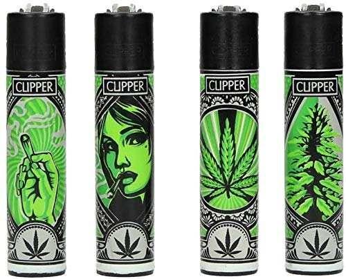 sunmondo Clipper® Feuerzeuge - Grass Art 4er Set