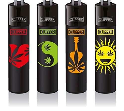Clipper Feuerzeuge 4er Set: Weed Shapes