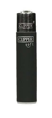 Clipper® Feuerzeuge 4er Set: Soft Black Feuerzeug