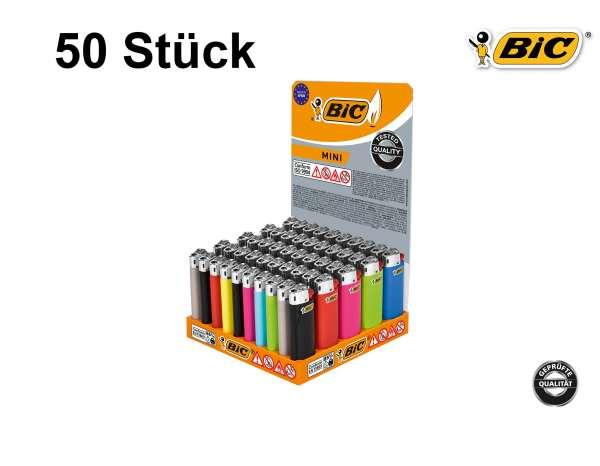 BIC Feuerzeug: Reibrad Mini Farb-Mix J25 - 50er Display