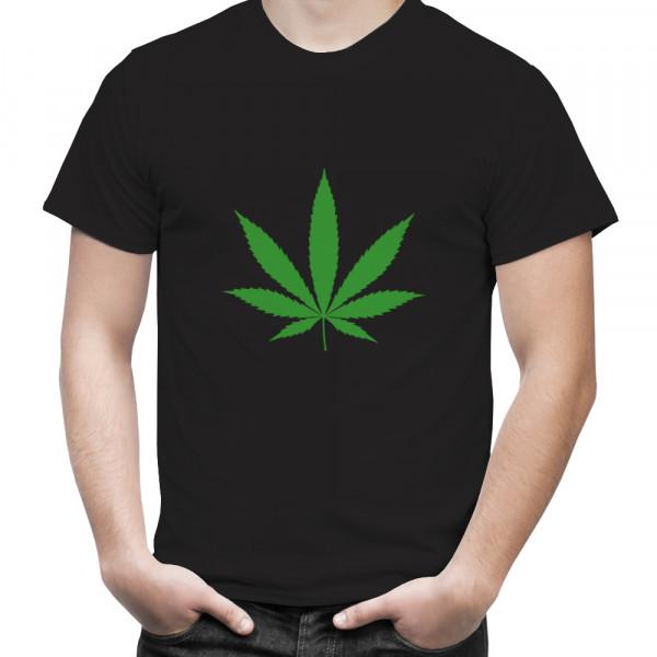 "T-Shirt mit Hanfblatt ""Cannabis blatt"""