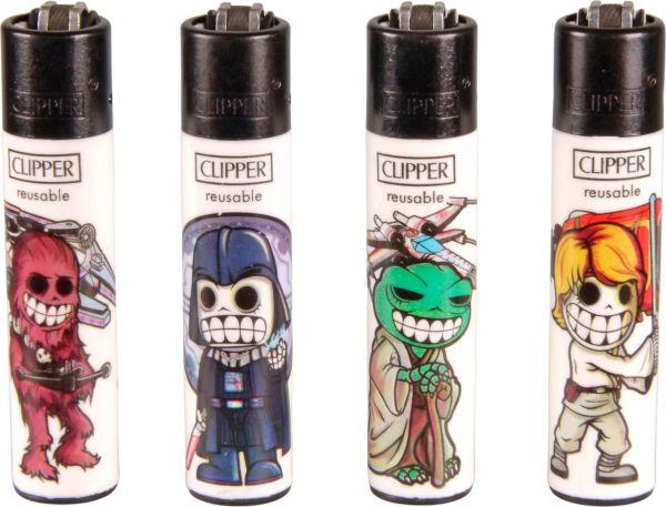 Clipper Feuerzeuge 4er Set: Space Warriors