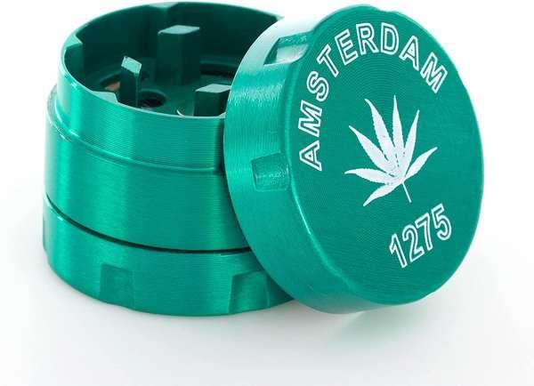 3-teiliger Premium Metall Grinder Green Amsterdam 1275