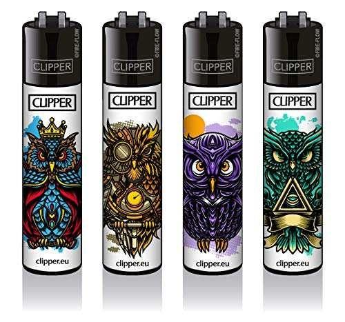 Clipper® Feuerzeuge 4er Set: Owls #2