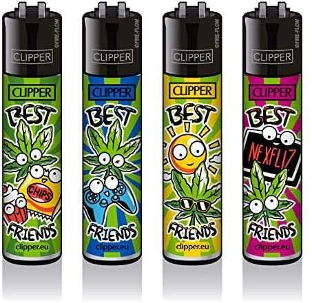 Clipper Feuerzeuge 4er Set: Best Friends #3