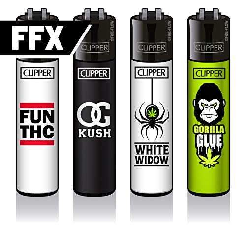 Clipper® Feuerzeuge - 420 Slogan #1-4er Set - FFX -Serie