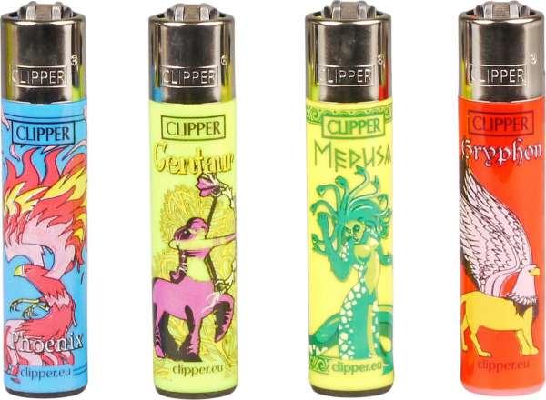 Clipper Feuerzeuge 4er Set: Myth Creatures