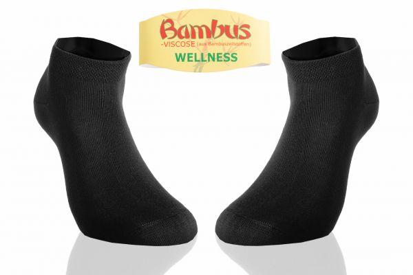 Sunmondo Bambus Sneaker Socken Schwarz, Größe: 39-42 - 1 Paar - Superweiche Sneaker Socken - Spitze