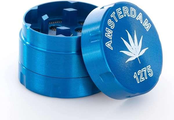 3-teiliger Premium Metall Grinder Blue Amsterdam 1275