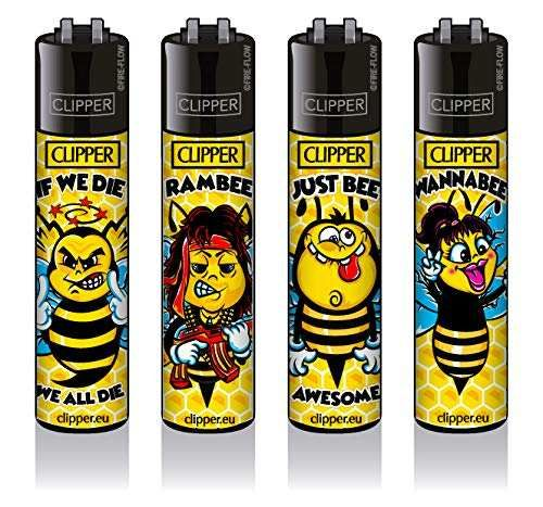 Clipper® Feuerzeuge 4er Set: Bienen #2