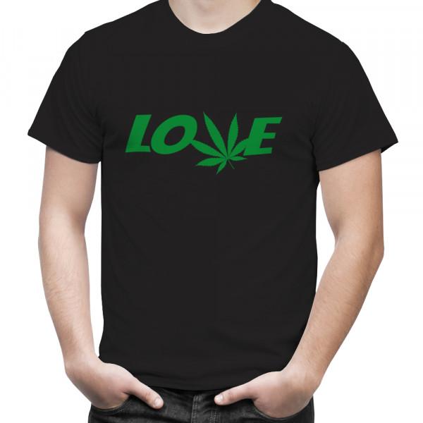 "T-Shirt mit Hanfblatt ""I Love Hanf"""