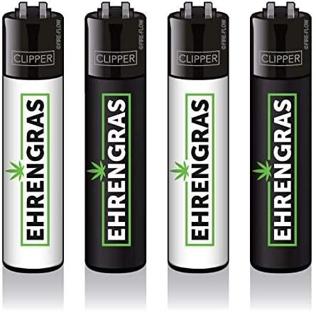 Clipper® Feuerzeuge 4er Set: EHRENGRAS
