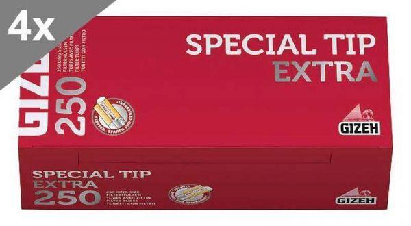 Gizeh Special Tip Extra, 250 Hülsen, 4er Gebinde